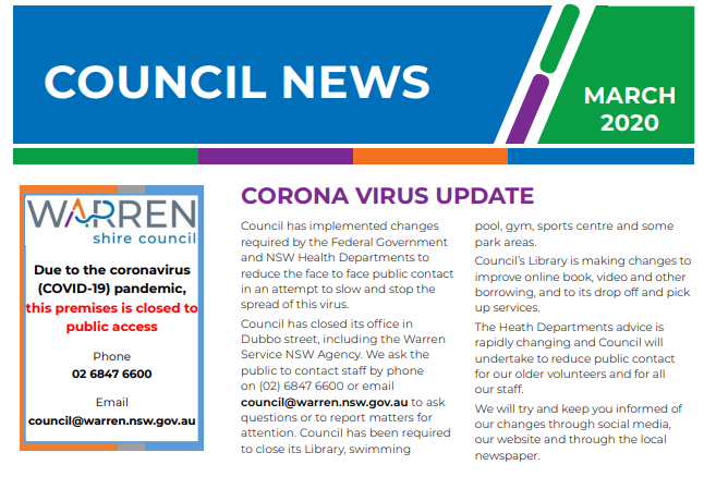 Council News - March 2020