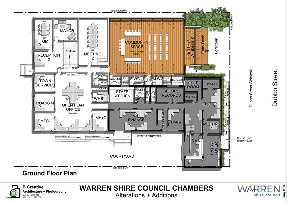 Warren Council Redevelopment Building.