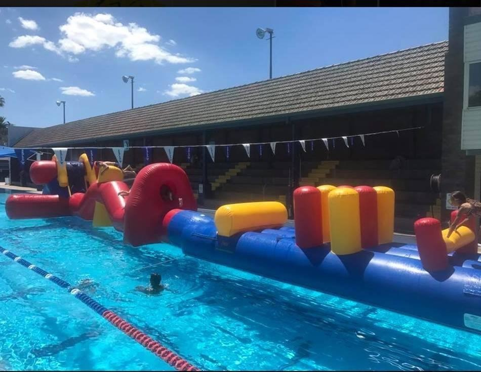 Inflatable Obstacle Course at Warren Pool